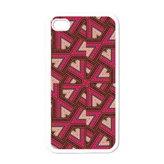 Digital Raspberry Pink Colorful  Apple iPhone 4 Case (White)