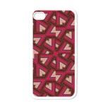Digital Raspberry Pink Colorful  Apple iPhone 4 Case (White) Front