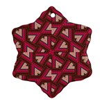 Digital Raspberry Pink Colorful  Snowflake Ornament (2-Side) Back