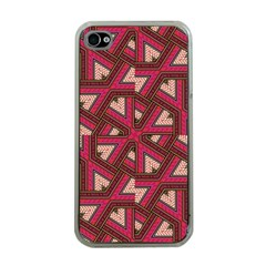 Digital Raspberry Pink Colorful  Apple iPhone 4 Case (Clear)