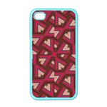 Digital Raspberry Pink Colorful  Apple iPhone 4 Case (Color) Front