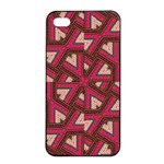 Digital Raspberry Pink Colorful  Apple iPhone 4/4s Seamless Case (Black) Front