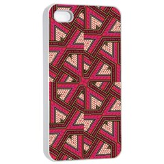 Digital Raspberry Pink Colorful  Apple iPhone 4/4s Seamless Case (White)