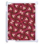 Digital Raspberry Pink Colorful  Apple iPad 2 Case (White) Front