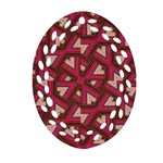 Digital Raspberry Pink Colorful  Oval Filigree Ornament (2-Side)  Front