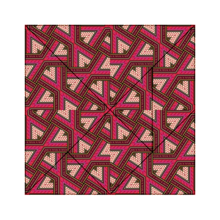 Digital Raspberry Pink Colorful  Acrylic Tangram Puzzle (6  x 6 )