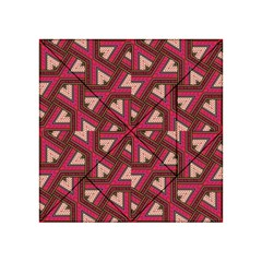 Digital Raspberry Pink Colorful  Acrylic Tangram Puzzle (4  x 4 )