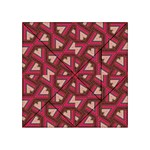 Digital Raspberry Pink Colorful  Acrylic Tangram Puzzle (4  x 4 ) Front