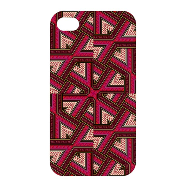 Digital Raspberry Pink Colorful  Apple iPhone 4/4S Premium Hardshell Case