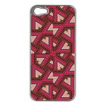 Digital Raspberry Pink Colorful  Apple iPhone 5 Case (Silver) Front