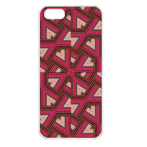Digital Raspberry Pink Colorful  Apple iPhone 5 Seamless Case (White)