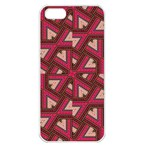 Digital Raspberry Pink Colorful  Apple iPhone 5 Seamless Case (White) Front