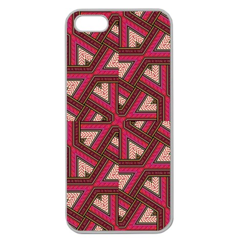 Digital Raspberry Pink Colorful  Apple Seamless iPhone 5 Case (Clear)