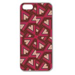 Digital Raspberry Pink Colorful  Apple Seamless iPhone 5 Case (Clear) Front