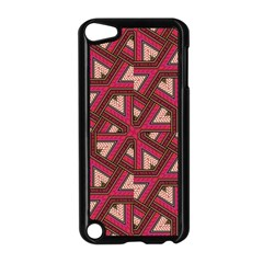 Digital Raspberry Pink Colorful  Apple iPod Touch 5 Case (Black)