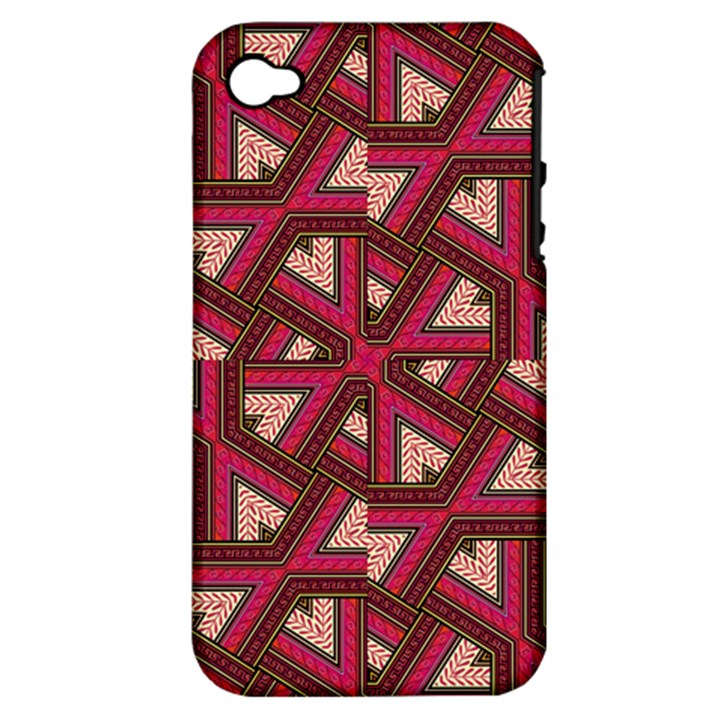 Digital Raspberry Pink Colorful  Apple iPhone 4/4S Hardshell Case (PC+Silicone)