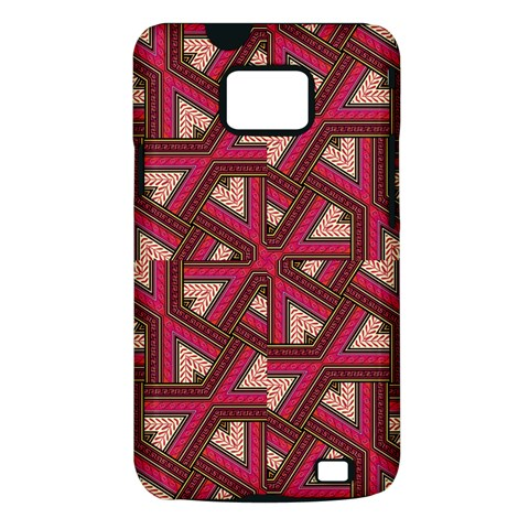 Digital Raspberry Pink Colorful  Samsung Galaxy S II i9100 Hardshell Case (PC+Silicone)