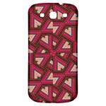 Digital Raspberry Pink Colorful  Samsung Galaxy S3 S III Classic Hardshell Back Case Front