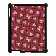 Digital Raspberry Pink Colorful  Apple iPad 3/4 Case (Black)