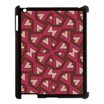 Digital Raspberry Pink Colorful  Apple iPad 3/4 Case (Black) Front