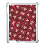 Digital Raspberry Pink Colorful  Apple iPad 3/4 Case (White) Front
