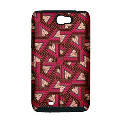 Digital Raspberry Pink Colorful  Samsung Galaxy Note 2 Hardshell Case (PC+Silicone)