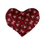 Digital Raspberry Pink Colorful  Standard 16  Premium Heart Shape Cushions Back