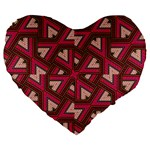 Digital Raspberry Pink Colorful  Large 19  Premium Heart Shape Cushions Front