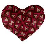 Digital Raspberry Pink Colorful  Large 19  Premium Heart Shape Cushions Back