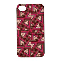 Digital Raspberry Pink Colorful  Apple iPhone 4/4S Hardshell Case with Stand