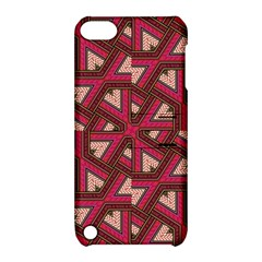 Digital Raspberry Pink Colorful  Apple iPod Touch 5 Hardshell Case with Stand