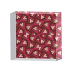 Digital Raspberry Pink Colorful  4 x 4  Acrylic Photo Blocks Front