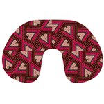 Digital Raspberry Pink Colorful  Travel Neck Pillows Back