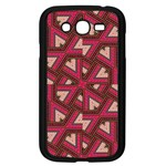 Digital Raspberry Pink Colorful  Samsung Galaxy Grand DUOS I9082 Case (Black) Front