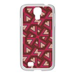 Digital Raspberry Pink Colorful  Samsung GALAXY S4 I9500/ I9505 Case (White) Front