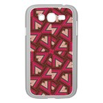 Digital Raspberry Pink Colorful  Samsung Galaxy Grand DUOS I9082 Case (White) Front