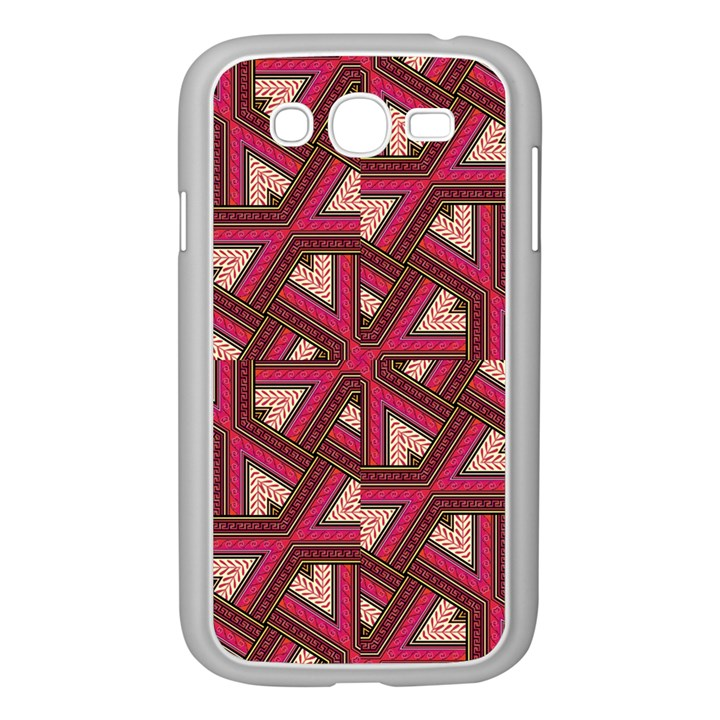 Digital Raspberry Pink Colorful  Samsung Galaxy Grand DUOS I9082 Case (White)