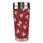 Digital Raspberry Pink Colorful  Stainless Steel Travel Tumblers Left