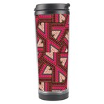 Digital Raspberry Pink Colorful  Travel Tumbler Left