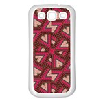 Digital Raspberry Pink Colorful  Samsung Galaxy S3 Back Case (White) Front