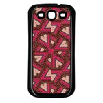 Digital Raspberry Pink Colorful  Samsung Galaxy S3 Back Case (Black) Front