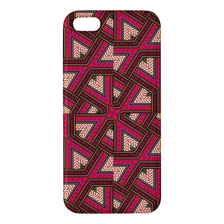 Digital Raspberry Pink Colorful  iPhone 5S/ SE Premium Hardshell Case