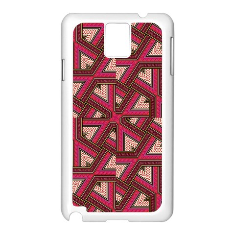 Digital Raspberry Pink Colorful  Samsung Galaxy Note 3 N9005 Case (White)