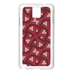 Digital Raspberry Pink Colorful  Samsung Galaxy Note 3 N9005 Case (White) Front