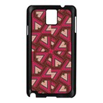 Digital Raspberry Pink Colorful  Samsung Galaxy Note 3 N9005 Case (Black) Front
