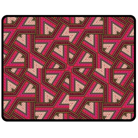 Digital Raspberry Pink Colorful  Double Sided Fleece Blanket (Medium)