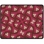 Digital Raspberry Pink Colorful  Double Sided Fleece Blanket (Medium)  60 x50 Blanket Front