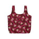 Digital Raspberry Pink Colorful  Full Print Recycle Bags (S)  Back