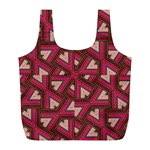 Digital Raspberry Pink Colorful  Full Print Recycle Bags (L)  Back