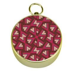 Digital Raspberry Pink Colorful  Gold Compasses